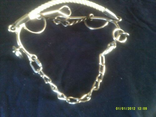 """Bit Lynn McKenzie Style 5 1//2/"""" Sweet Iron Mouth Rope Nose Band SS Shanks"""