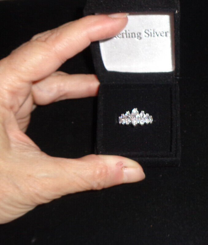 Sterling Silver 925 Marquis CZ Ring 6 or 9