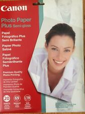 New Satin Finish Canon Photo Paper Plus Semi-Gloss 20 Sheets 8.5 x 11 Inches