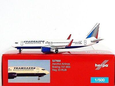 Herpa Wings 1:500 Boeing 737-800 Transaero 527668