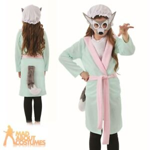 Unisex Child Wolf Costume Boys Girls Book Week Day Outfit Fancy Dress Accessory
