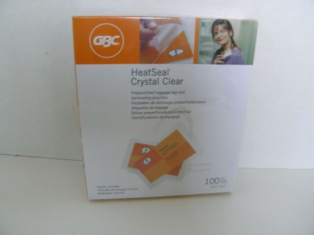New 10mil GBC HeatSeal Ultra Clear Letter Size Pouches 50pk Free Shipping