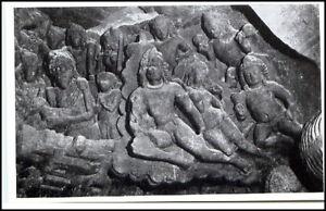 1959-INDIEN-Indien-Elephanta-Archaeologie-Cave-Figuren-Asien-Asia