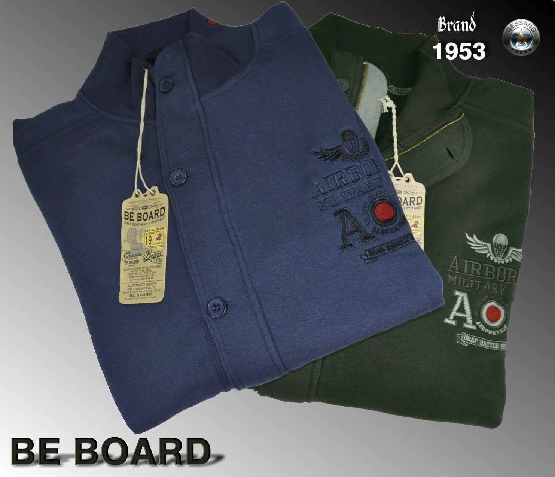 BE BOARD schweißhemd geöffnet kalibriert Farben Avio und grün Größe 3XL 4xl 5xl