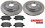 Para-Volvo-V60-2010-2015-155-157-Trasero-302mm-Discos-De-Freno-amp-Almohadillas-Juego-UNIPART miniatura 1
