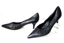 NEU Zanon & Zago Pumps 38 schwarz High heels Leder leather shoes schuhe Nero NEW