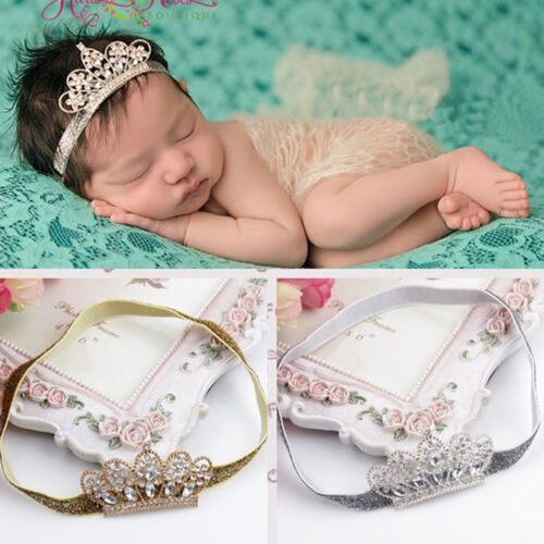 Baby Pearl Crown baby headband Princess Tiara Lovely photography props 1 piece