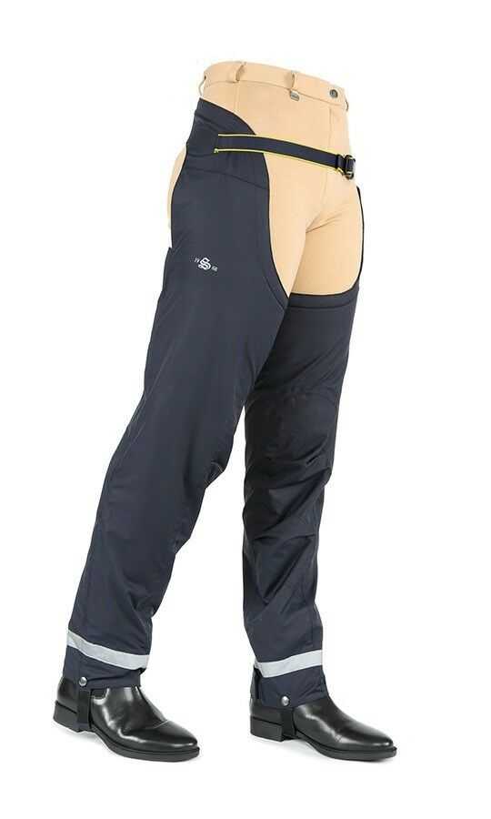 Shires Rio Winter Waterproof Adults Chaps - Fleece Lined Navy XL