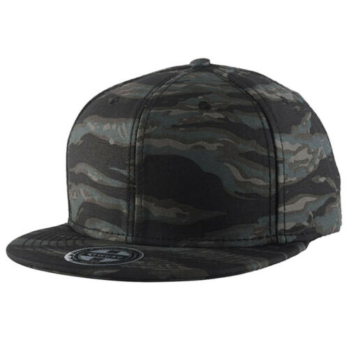WuKe Embroidery Snapback Baseball Hat Flat Brim Hip Hop Caps Black camoufl SGH