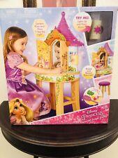 Disney Tangled Toddler Rapunzel Enchanted Real Vanity Mirror Lights Sounds Stool