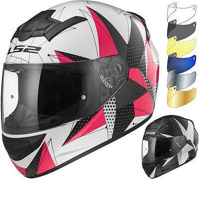 LS2 FF352 Rookie Brilliant Motorbike Bike Helmet Cheap Visor Motorcycle Crash