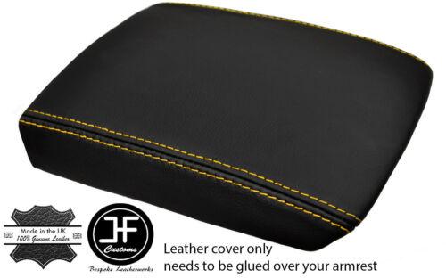 Maille Jaune en cuir véritable Accoudoir Couvercle Cover Fits Mitsubishi EVO 7 8 9