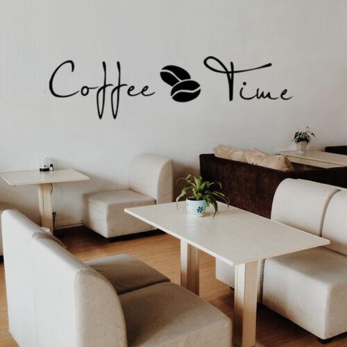 Grains de Café Cuisine Cafe Wall Sticker Home Decor amovible Restaurant À faire soi-même