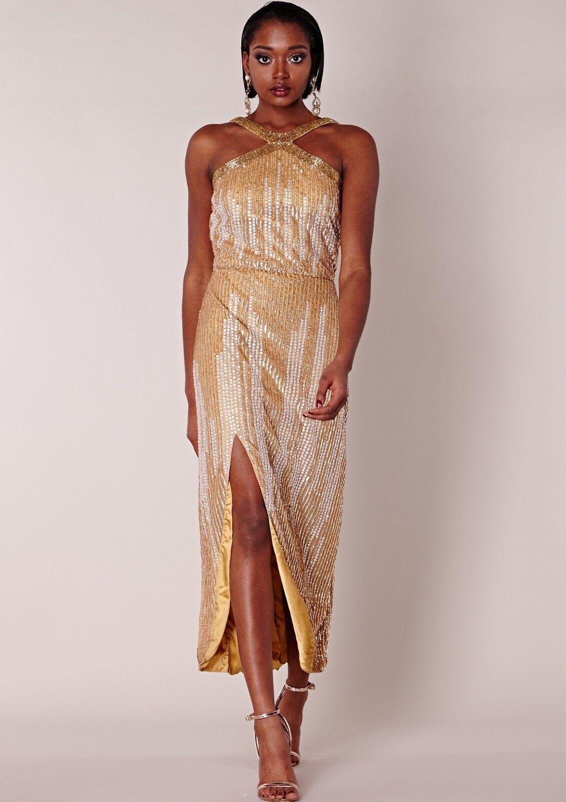 Virgos Lounge Dress Raven Embellished Midi Party Size