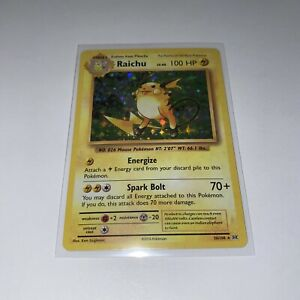 XY Evolutions Reverse Holo NEAR MINT-MINT Pokemon Raichu 36//108