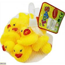 8 YELLOW RUBBER PLASTIC DUCKS BATH TOY CHILDS CHILDREN TODDLERS TOY BATHTIME