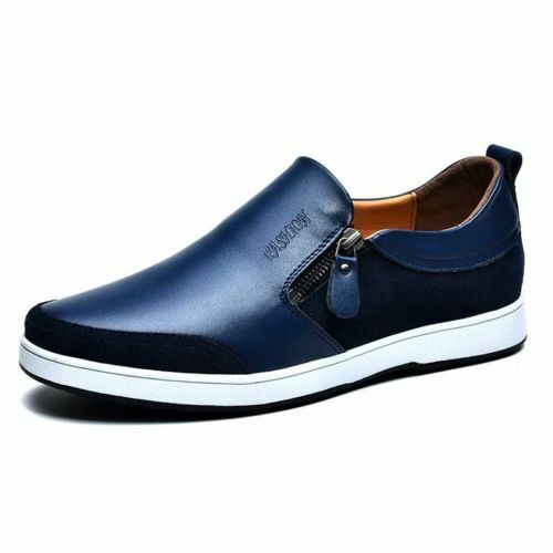 Mens Invisible Elevator Leather Loafers shoes 6cm Height Increasing Sneakers New