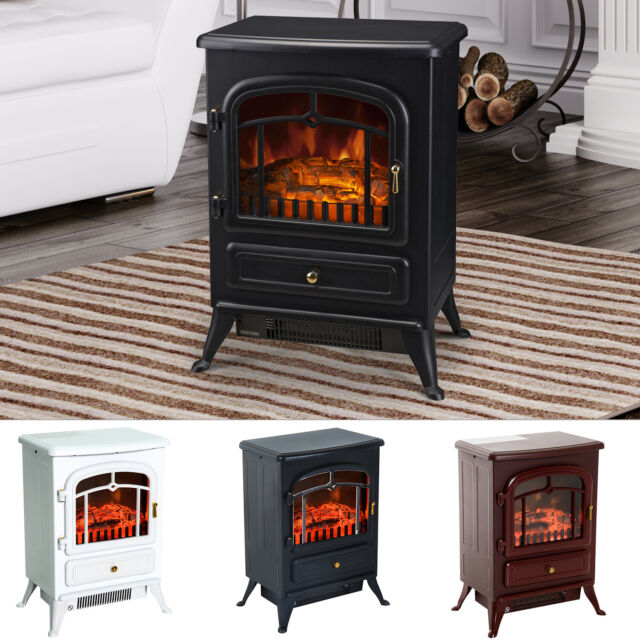 Homcom 16 1500w Standing Electric Wood Stove Fireplace Heater