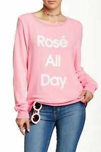Neon 'All Couture Kvinder Day Størrelse X Rose small Wildfox Pullover Pink Sweater wEXWqBXd