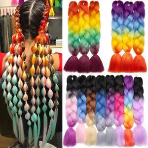 4-Tone-Mix-Rainbow-Jumbo-Braids-Afro-Ultra-Twist-Braiding-Hair-Extensions-Thick