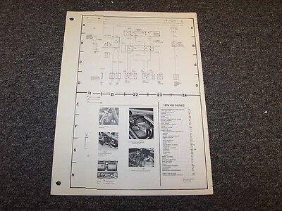 1976 Mercedes Benz 450SL & 450SLC Original Electrical Wiring Diagram Manual  | eBayeBay
