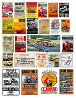 1:18 1:24 Drag Racing Posters 1 Decals For Diecast & Other Dioramas