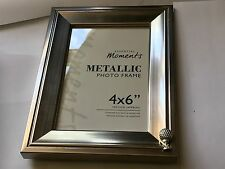 Golfball On Tee TG10 English Pewter On A PICTURE FRAME SILVER 6X4 Hang/Stand