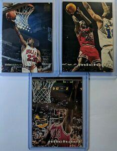 Lot-of-3-1993-93-94-STADIUM-CLUB-Michael-Jordan-169-181-1-Triple-Double