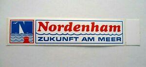 Souvenir-Aufkleber Nordenham Wesermarsch Lower Saxony North Sea Bremerhaven 80er