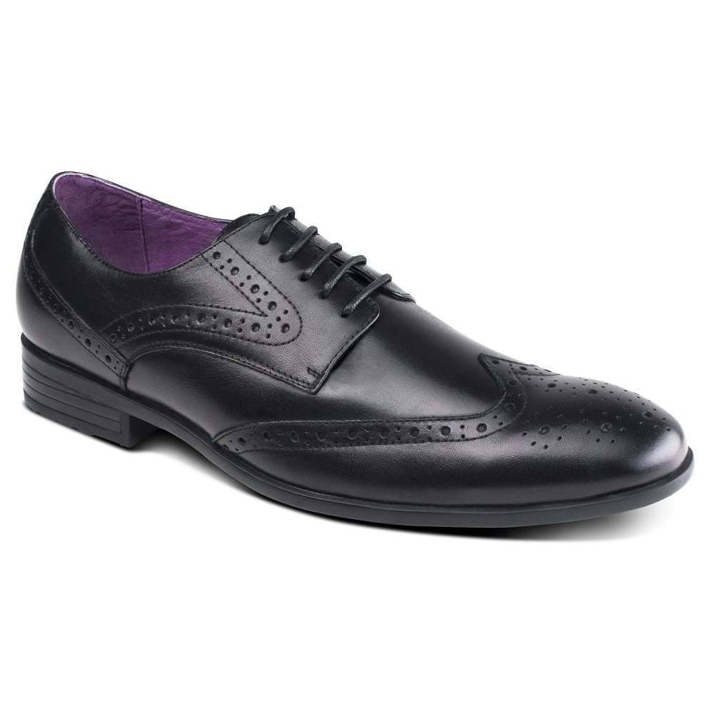 Azor Shoes Lancetti Black Leather Shoes