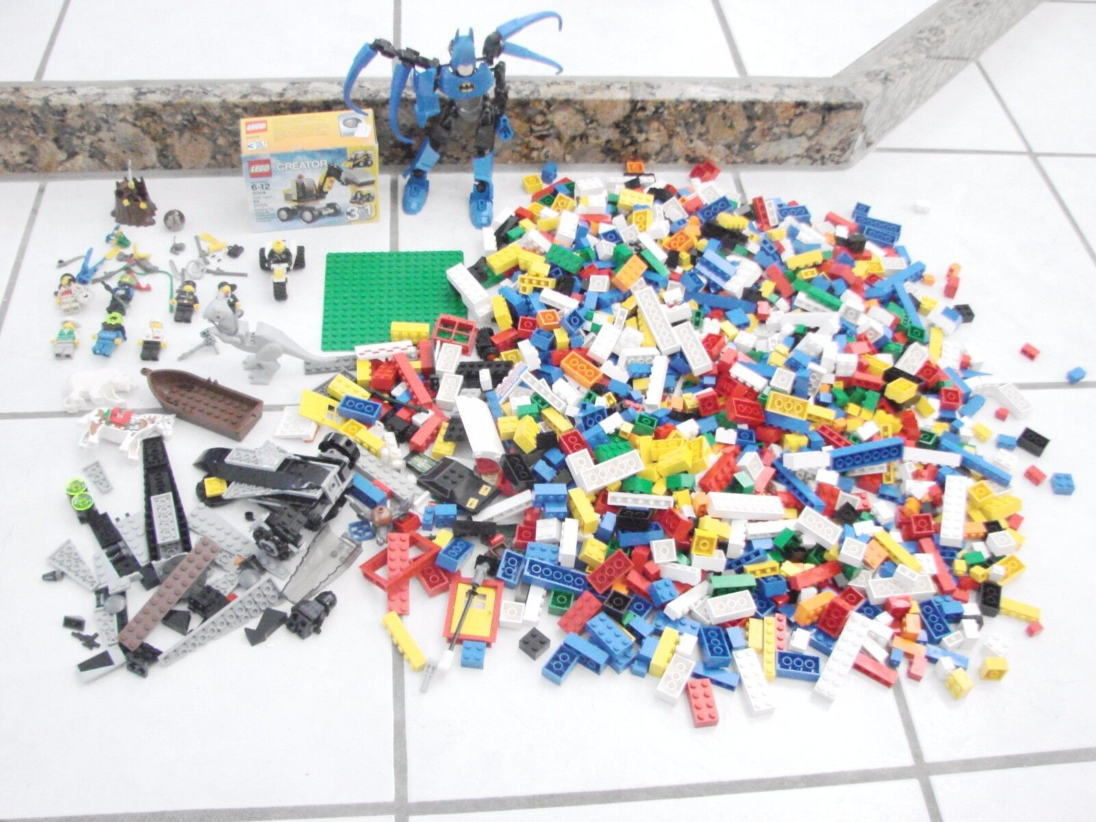 6 pound Lego lot Bionicle Batman 12 Minifigures 1 new small set animals bear+