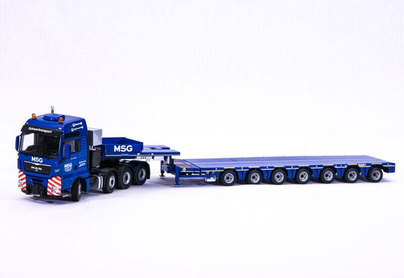 IMC MAN TGX 8x4 mit Nootebom 7-Achs Semi Tieflader  MSG  1 50, wie WSI