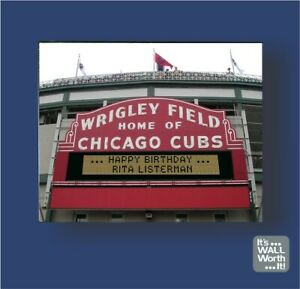 Personalized-Chicago-Cubs-Wrigley-Field-Marquee-8-034-x-10-034-Canvas-Picture