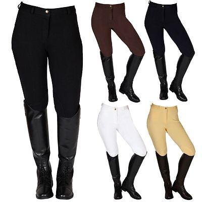 Best Su Cavallo Donna Jumping Dressage Ginocchio Patch Cotone Pantaloni Equitazione-