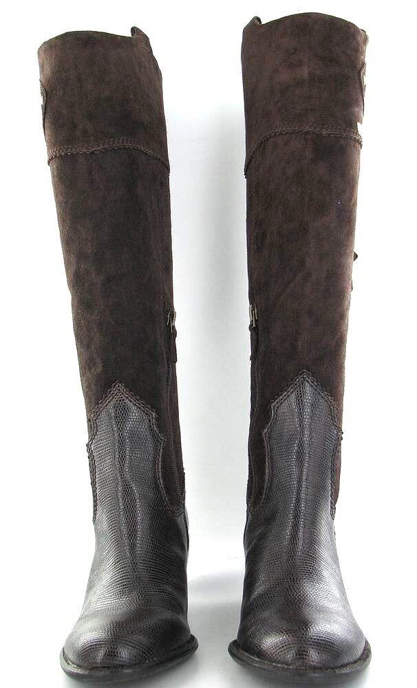 Franco Franco Franco Sarto Duke  Leather Designer Riding Tall Stiefel Chestnut  Sz 6 ret  225 d287c6