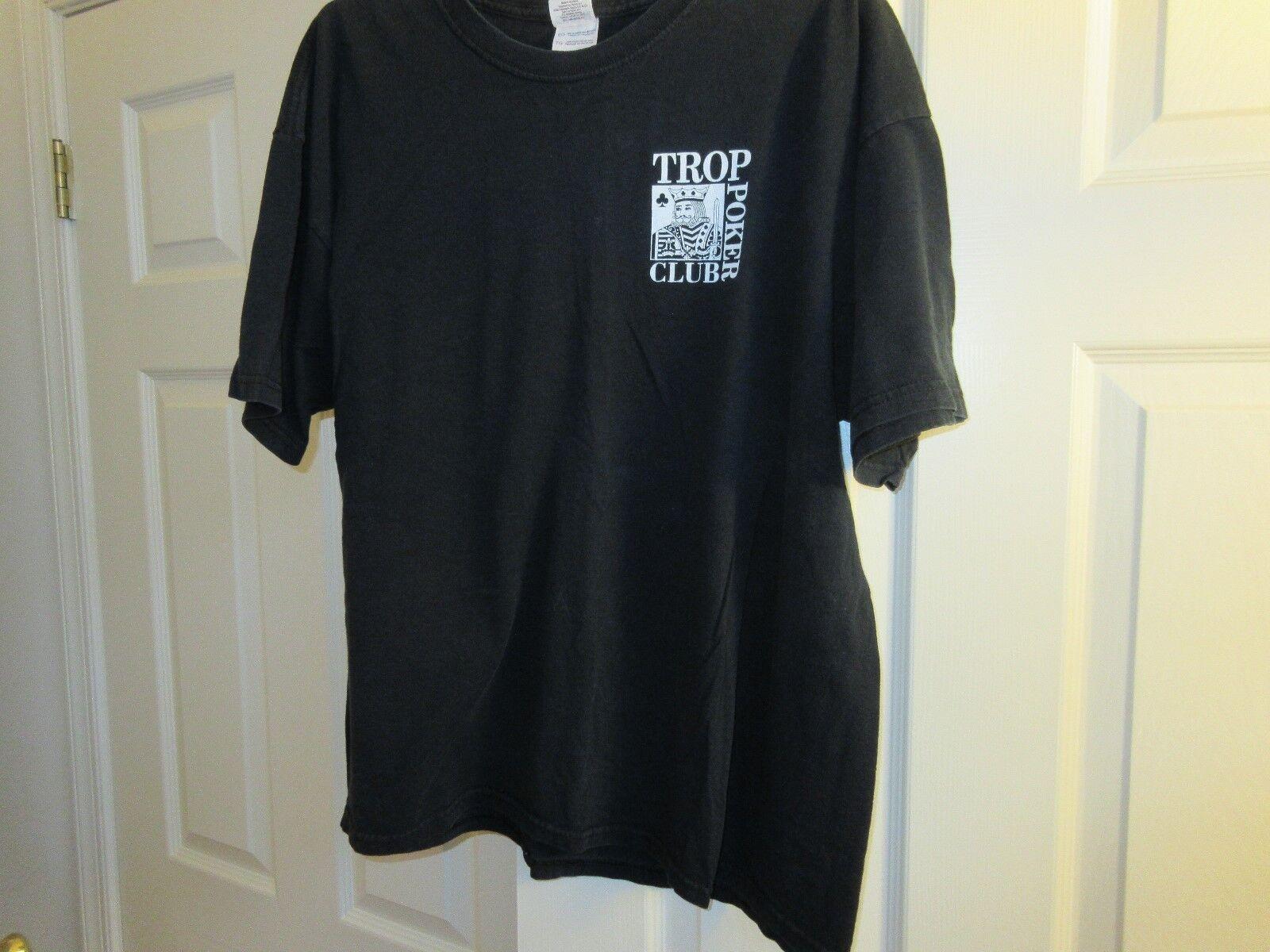 Poker , T-Shirt , Trop Poker Club , Atlantic City NJ ,