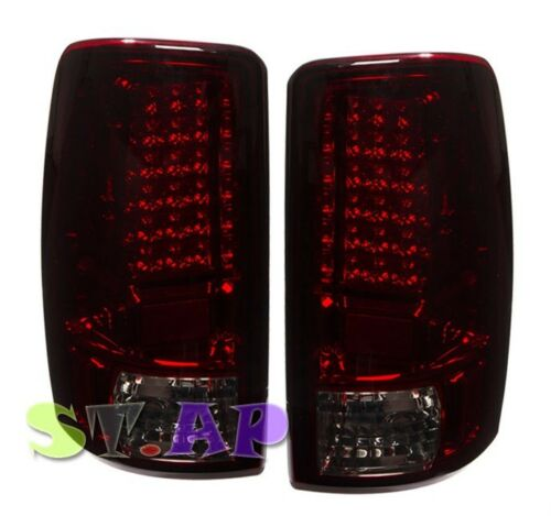 00-06 Chevy Suburban Tahoe Yukon Xl Led Tail Light Signal Lamp 2Pc Smoke Red