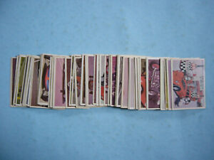 FULL-SET-66-1965-DONRUSS-HOT-ROD-MAGAZINE-SPEC-SHEET-COLLECTOR-CARDS-NICE