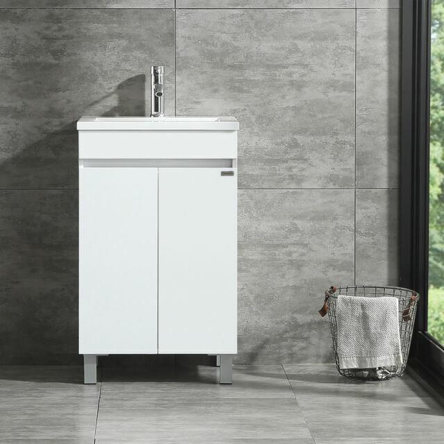 Walcut Usbr4005 Vanity Cabinet With Vessel Sink White For Sale Online Ebay