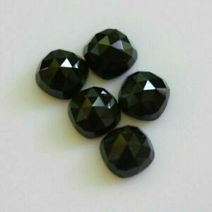 Lot Of Stunning AAA Quality 25 Pieces Natural Green Onyx 7x7 MM Cushion Rose Cut Loose Gemstone .
