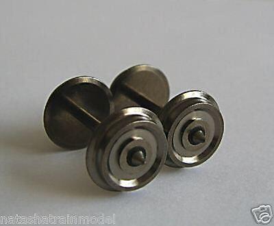 Dodici coppie di ruote 12 assi HO in metallo con isolatore laterale per Lima ecc
