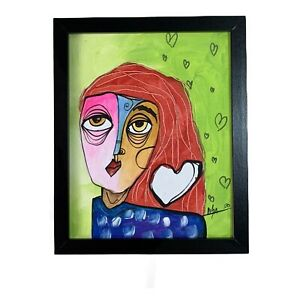 PAINTING-ORIGINAL-ACRYLIC-ON-CANVAS-PANEL-FRAME-INCLUDED-8x10-CUBAN-ART-by-LISA