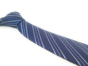 BRIONI-Tie-Blue-White-Woven-Jacquard-Stripes-Italian-Silk-Necktie