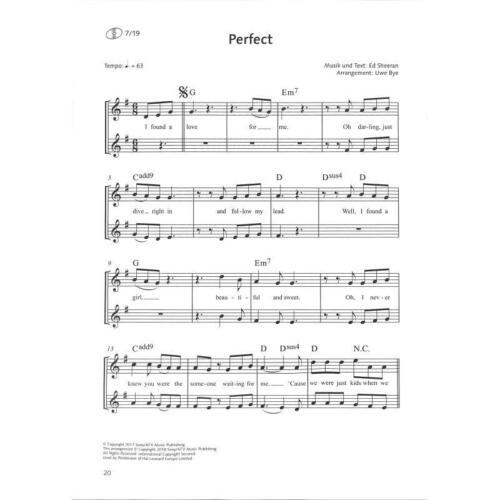 CD SCHOTT ED 22790 16 für Sopran-Blockflöte Bye: MEGASTARKE POPSONGS Bd