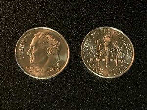 2019 P mint Original Bank Wrapped Loomis Roll Of Roosevelt Dimes In BU Condition