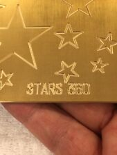 Large Multi Stars Master Template Brass Engraving Plate For New Hermes Font Tray