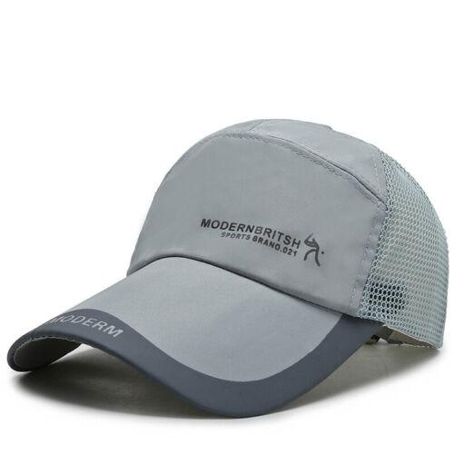Breathable Baseball Cap Mesh Cap Peaked Cap Men Sun Hat Soild Color Fashion Cap