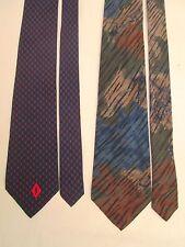 Lot de 2 cravates  YVES SAINT LAURENT / BRIONI  100% soie TBEG vintage