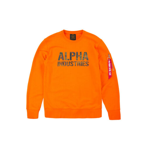 Alpha INDUSTRIES da Uomo Sweater Camo Print Pullover ma1 S M L XL XXL 3xl