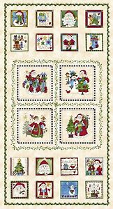 Fabric-Christmas-Just-be-Claus-on-Cotton-Panel-24-034-x42-034